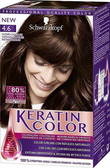 KERATIN COLOR tinte Castaño Chocolate Nº caja 1 ud: Amazon.es ...