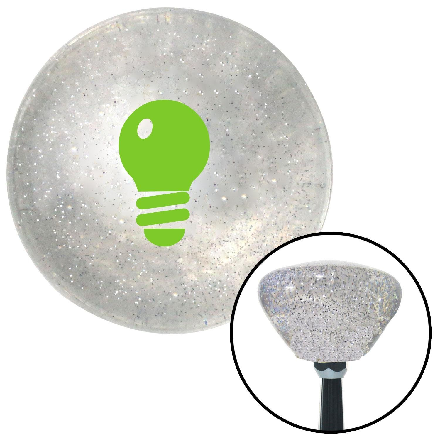 Green Light Bulb American Shifter 162663 Clear Retro Metal Flake Shift Knob with M16 x 1.5 Insert