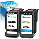 InkWorld Remanufactured 245XL 246XL Ink Cartridge Replacement for Canon PG-245 CL-246 243 244 (1 Black & 1 Tri-Color) Used fo