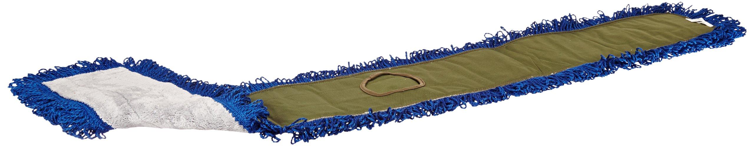 Impact LFCB60 Fringe Dry/Dust Mop Microfiber Pad, Canvas Back, 60'' Length, Gray/Gray (2 Bags of 12)