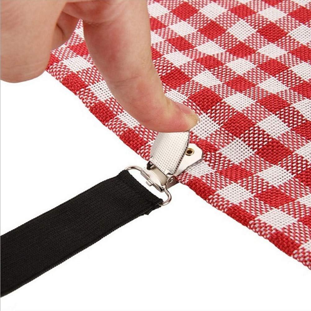 8pcs Elastic Triangle Straps Sheet Holder for Sheets generic Black Adjustable Bed Sheet Brackets Belt Retractor Gripper Clips Suspenders Elastic Band Metal Clips 4