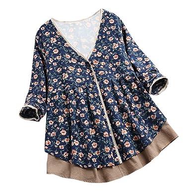 Vectry Rebajas Mujer Camiseta con Manga Larga Camiseta Estampado Camiseta Asimétrica Sudadera con Cuello Redondo Sudadera Lisa Camiseta De Color Sólido: ...