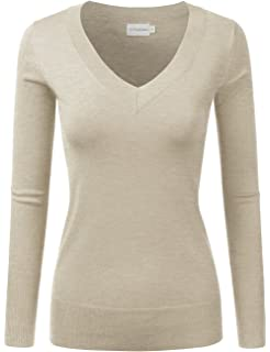 JJ Perfection Women s Soft Long Sleeve Round Neck Pullover Sweater ... 109d029ac