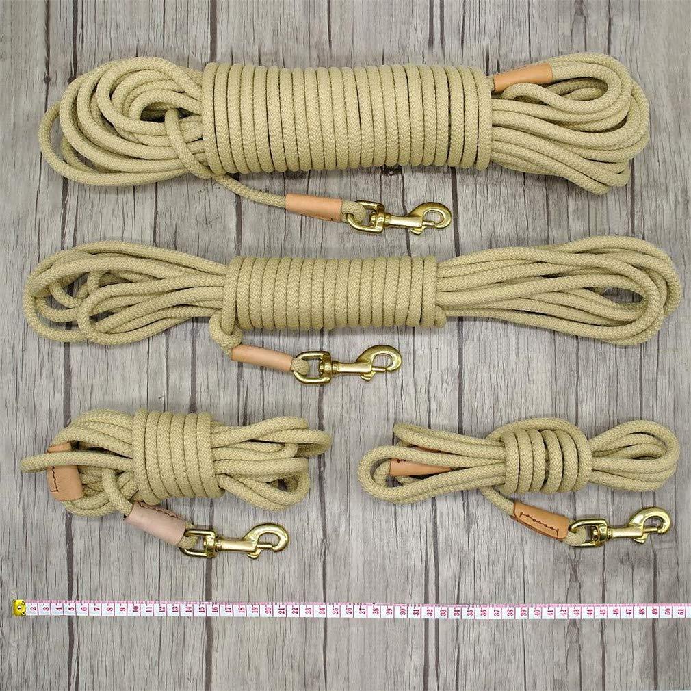 LOVESHI Durable Dog Tracking Leash Nylon Long Leads Rope Pet Training Walking Leashes 3M 5M 10M 20M for Medium Large Dogs Non-Slip Beige 20m by LOVESHI (Image #2)