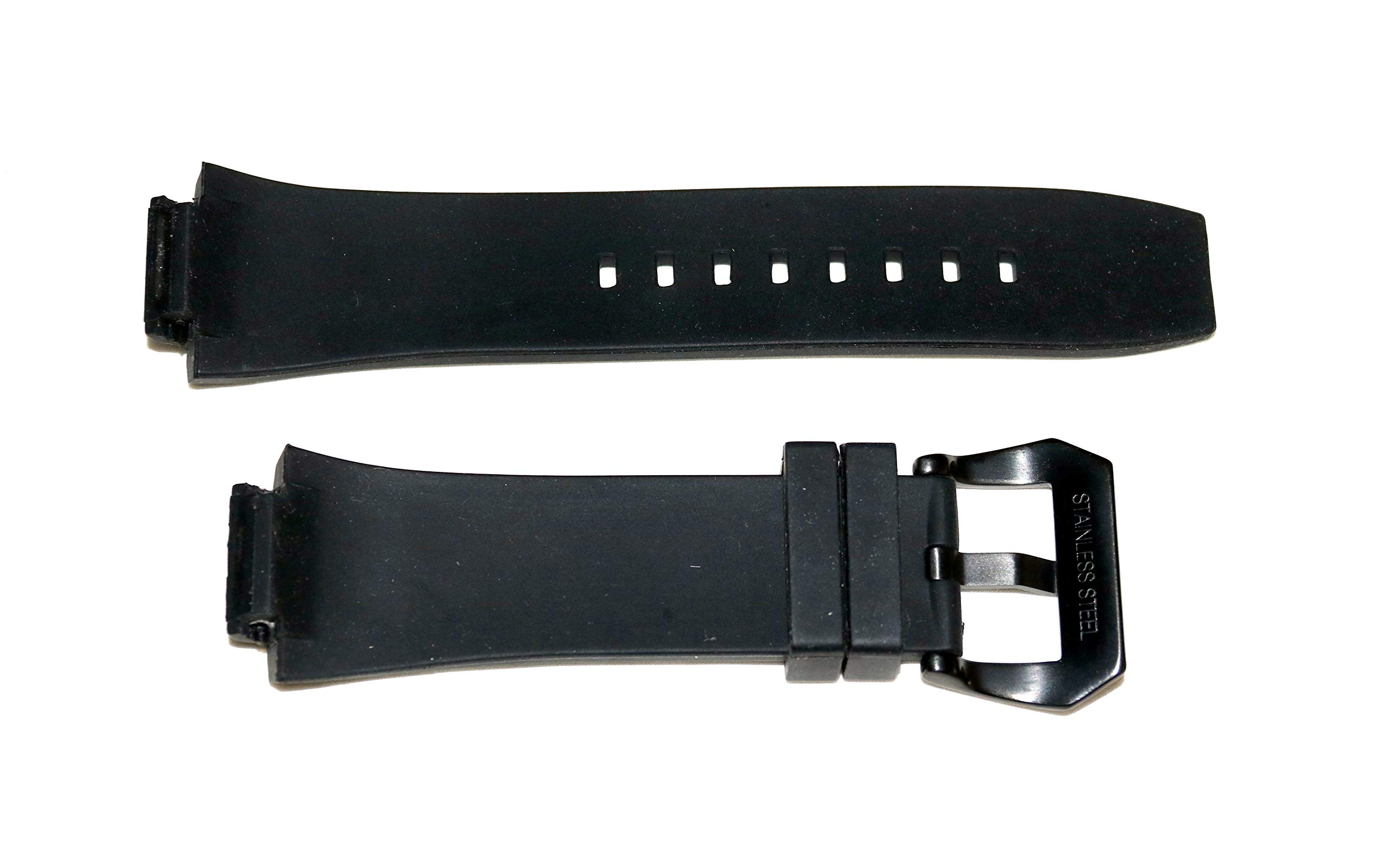 Swiss Legend 28MM Black Silicone Watch Strap Black Stainless Buckle fits 44mm Trimix Diver Watch by SWISS LEGEND (Image #4)