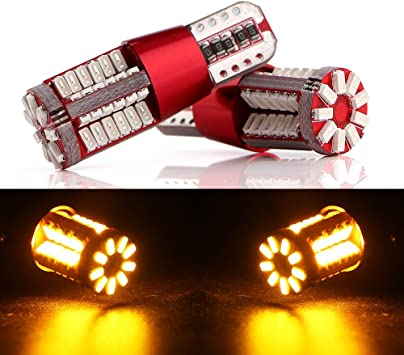 2x T10 w5w 501 194 Red Light Canbus Led Bulb 5x 5050 Chip LED Brand New!