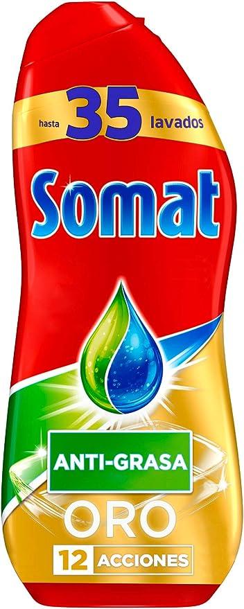 Somat Oro Gel Lavavajillas Antigrasa - 35 Lavados - 630 ml: Amazon ...