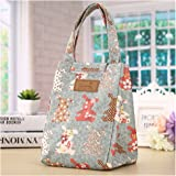 Umily Picnic Bag Insulated Food Storage Box Tote Bento Pouch Lunch Bag-Rabbit A