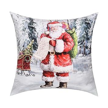 Amazon.com: Funda de almohada de Navidad de BLEUM CADE con ...