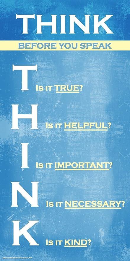 amazon com think before you speak inspirational motivational