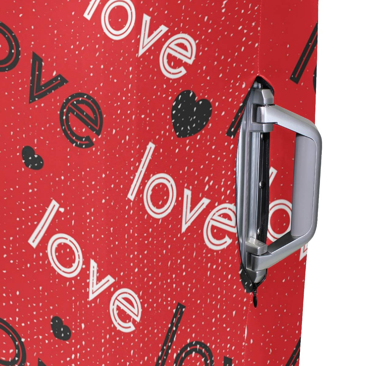 Baggage Covers Romantic Love Heart Red Color Washable Protective Case