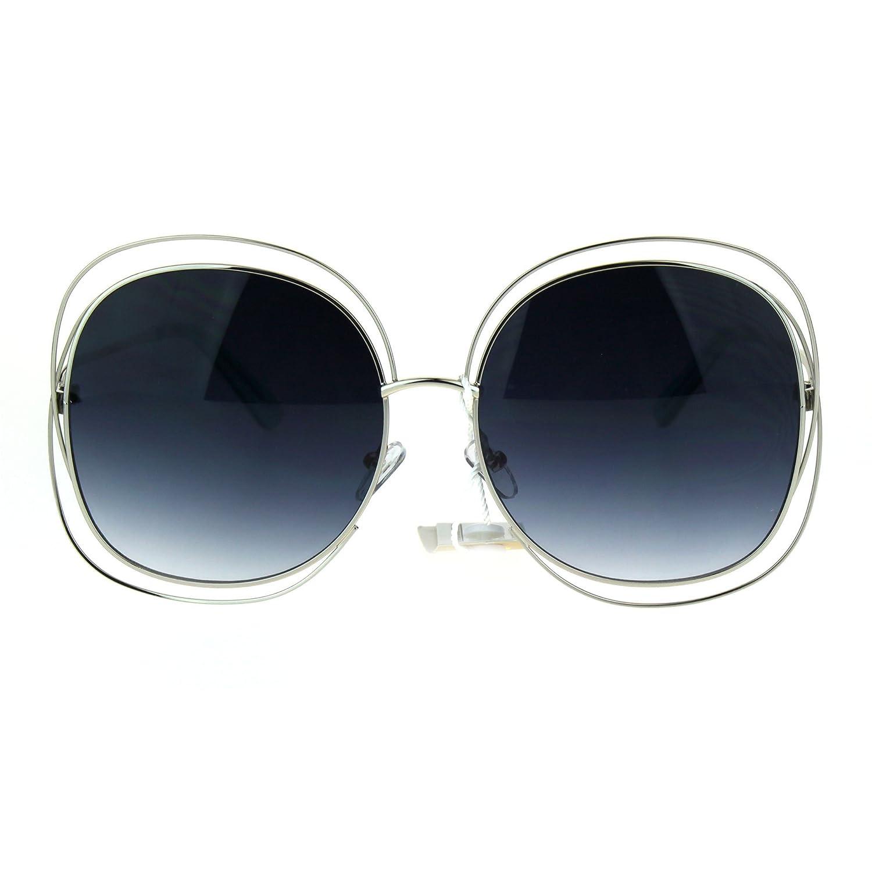Amazon.com: Alambre doble marco cuadrado anteojos de sol ...