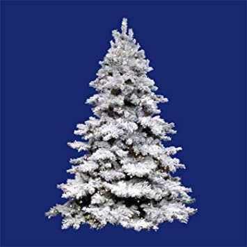 Image Unavailable. Image not available for. Color: Vickerman 6.5' Pre-Lit Flocked  Alaskan Artificial Christmas Tree ... - Amazon.com: Vickerman 6.5' Pre-Lit Flocked Alaskan Artificial