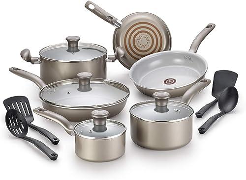 T-fal G919SE64 Initiatives Ceramic Nonstick Cookware Set