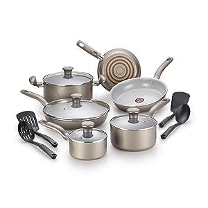 T-fal G919SE64 Initiatives Ceramic Nonstick Dishwasher Safe