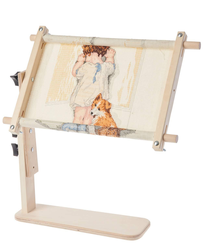 Frank A. Edmunds Sit-On Needlework Frame, 9'' x 18'', 2941 by Frank Edmunds & Co.