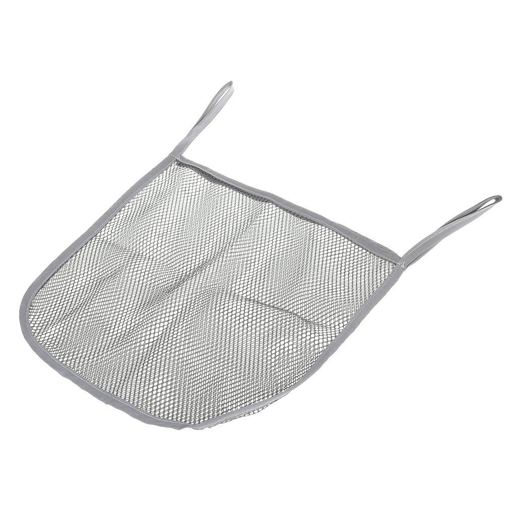 Dabixx Baby Storage Bag Clear Mesh Stroller Hanging Portable Diaper Organizer Umbrella Gray