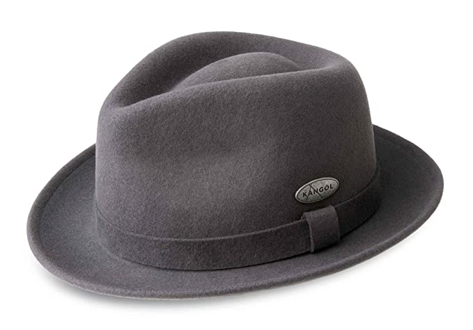 6aee1e2c Image Unavailable. Image not available for. Colour: Kangol Men's Trilby Hat LiteFelt  Hiro ...
