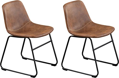 Dining Chairs,Vintage Pu Leather Chair