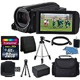 Canon 32GB VIXIA HF R72 Full HD Camcorder + Transcend 32GB SDHC Memory Card + Digital Camera/Video Case + Extra Battery + Full Tripod + Camera/Video Case + USB Card Reader + Complete Valued Bundle