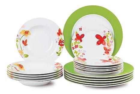 borella piatti  Borella Casalinghi 23850 Servizio Piatti, Porcellana,, 18 unità ...