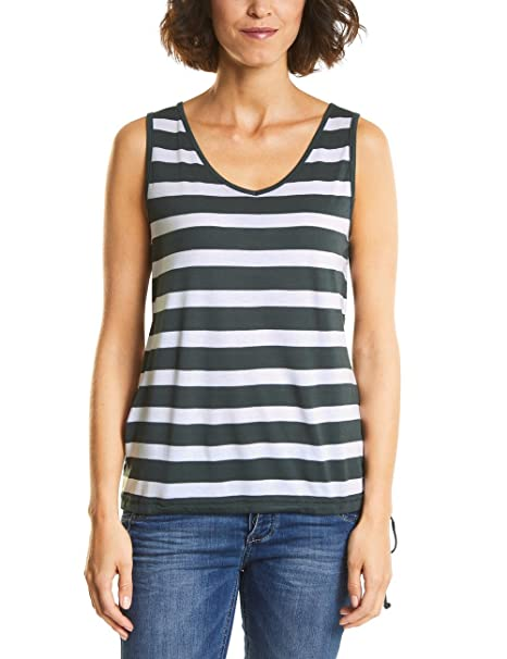 Street One 312266 Gilla, Camiseta sin Mangas para Mujer, Multicolor (Chilled Green 21348), 38