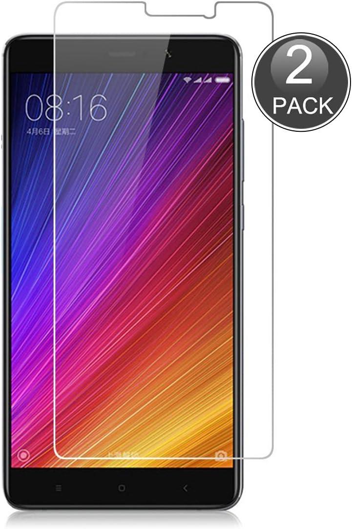 E-Hamii [2-Pack Xiaomi Mi 5S Plus Protector de Pantalla, 0.26mm HD Anti-Scratch y Anti-Huella Digital Proteger la Película, 9H Vidrio Templado Protectora (Nota: no Cobertura Completa): Amazon.es: Electrónica