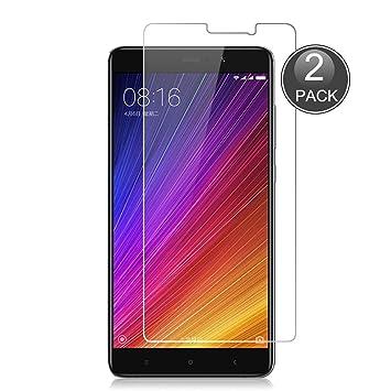 E-Hamii [2-Pack Xiaomi Mi 5S Plus Protector de Pantalla, 0.26mm HD Anti-Scratch y Anti-Huella Digital Proteger la Película, 9H Vidrio Templado ...