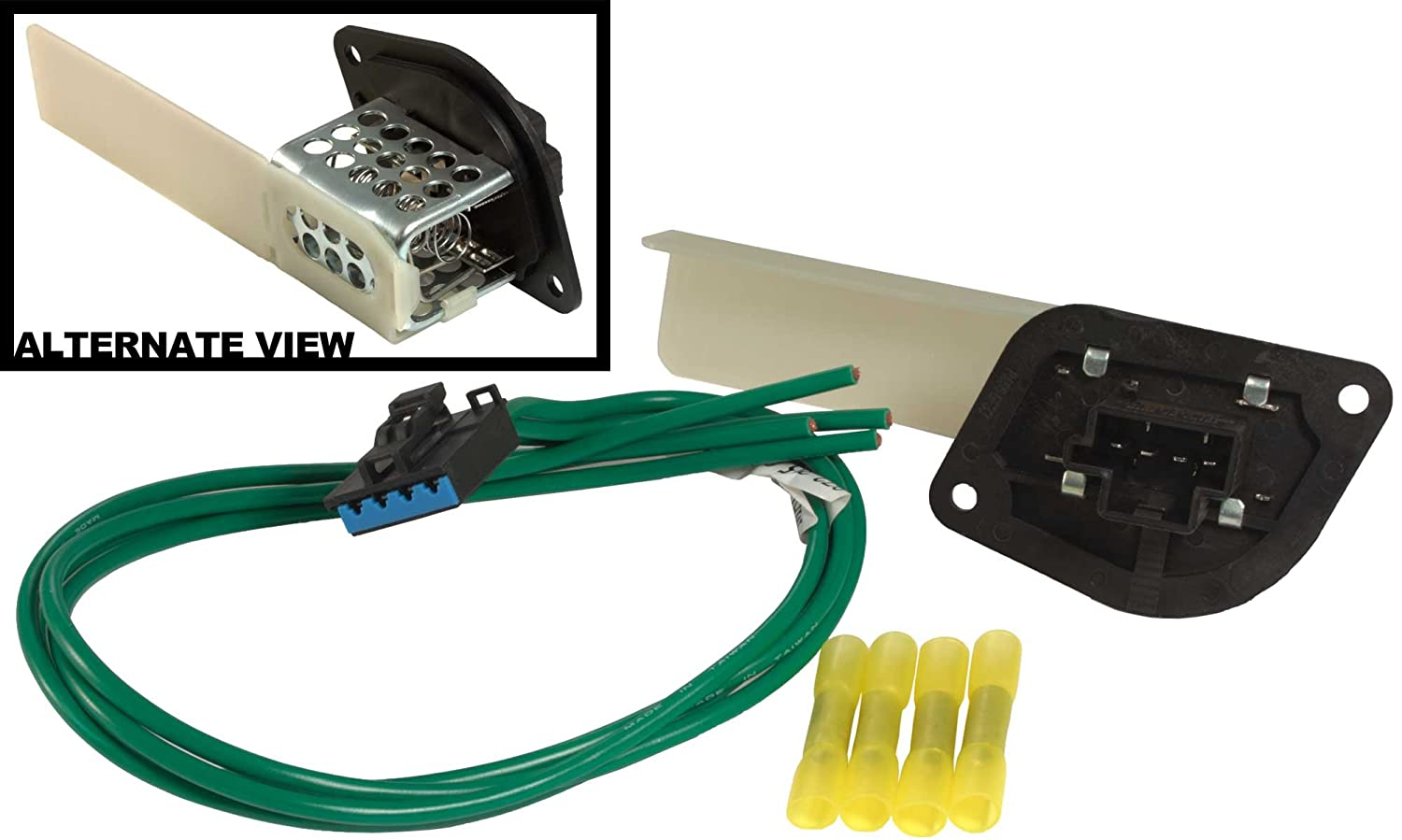71rTppQ3FwL._SL1500_ amazon com apdty 084527 blower motor resistor kit with wiring jeep wrangler blower motor wiring harness at creativeand.co