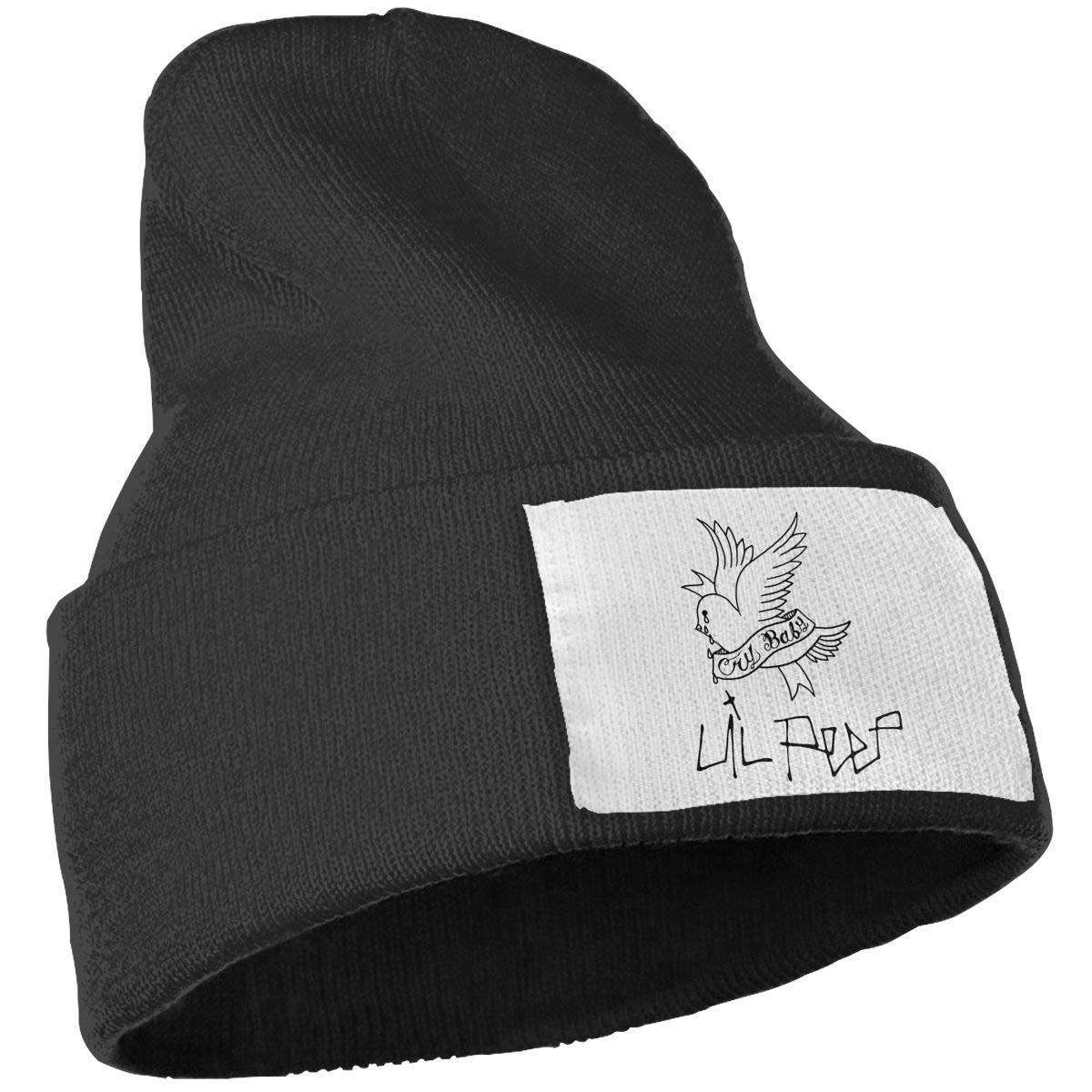Unisex Winter Hats Lil Peep Letter Printed Skull Caps Knit Hat Cap Beanie Cap for Men//Womens