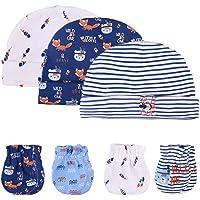 Kiddiezoom Manoplas de algodón para bebés y niñas, paquete de 10 unidades de guantes de algodón suave para bebés