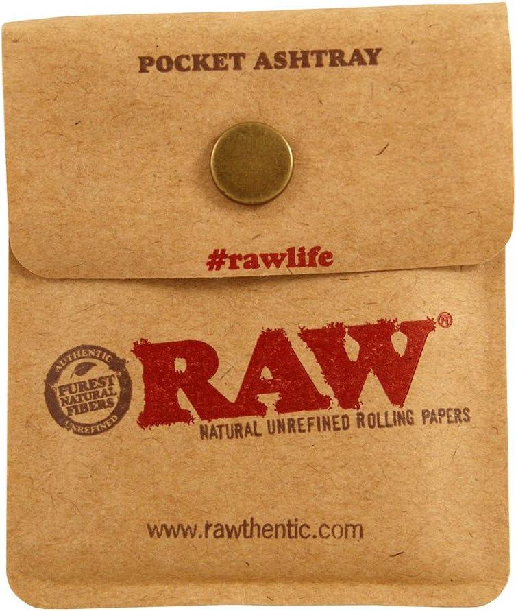 RAW Pocket Ashtray Cendrier de Poche pour Les Voyages 3 Poches Ashtrays