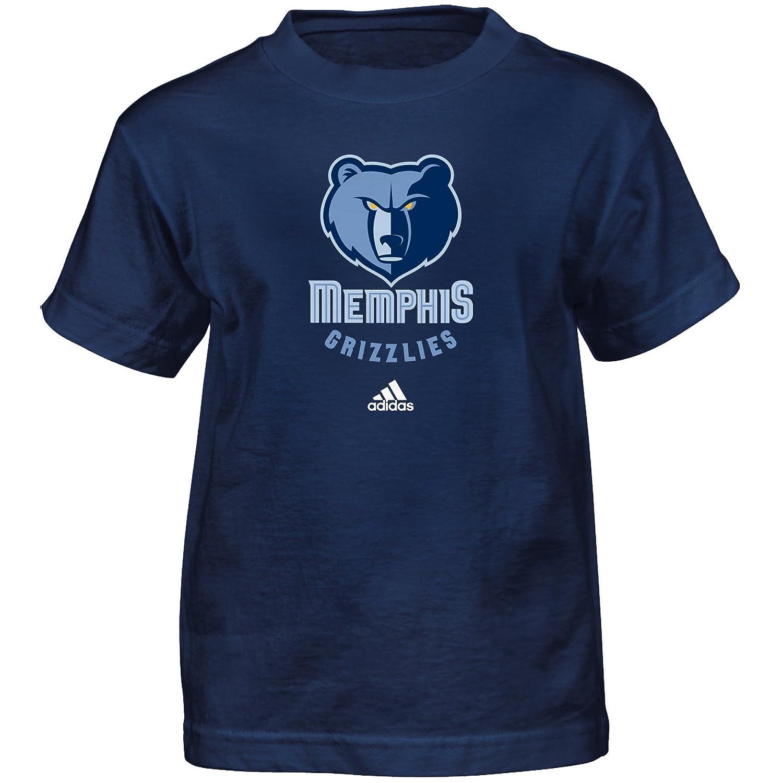 (Memphis Grizzlies, Small (4)) - NBA Boys Full Primary Logo Short Sleeve Tee   B01N7YNY6L