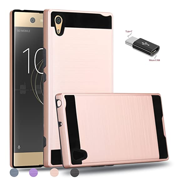 cheap for discount 5c0d4 2a568 Sony Xperia XA1 Ultra Case,Sony Xperia XA1 Ultra Dual Case,Wtiaw [Brushed  Metal Texture] Hybrid Dual Layer Defender Case for Sony Xperia XA1 Ultra-LS  ...