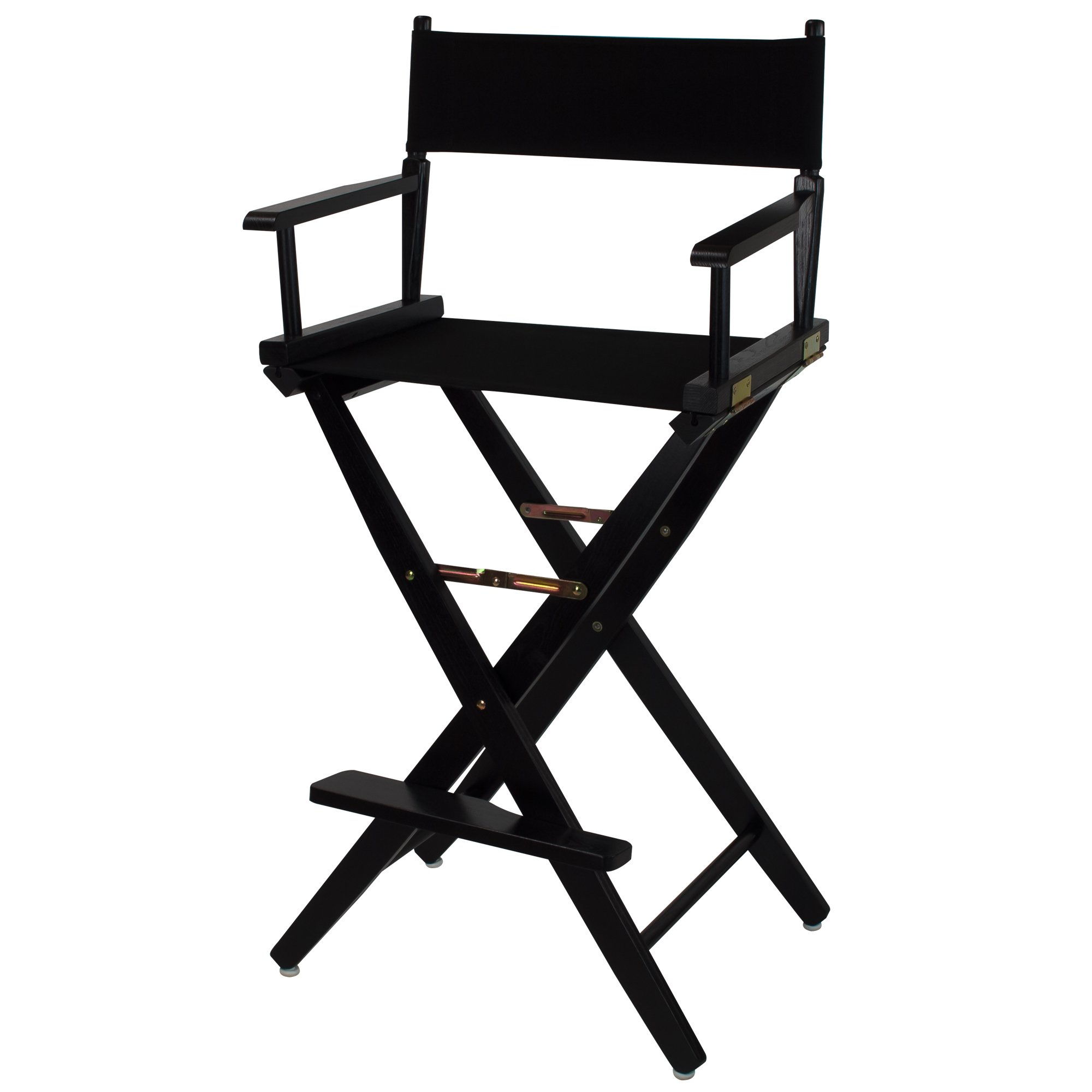 American Trails Extra-Wide Premium 30'' Director's Chair Black Frame with Black Canvas, Bar Height by American Trails