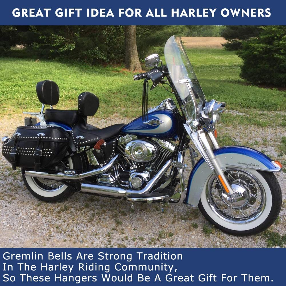 Harley Davidson Biker Motorcycle Luck Riding Bell Hanger GETIT Guardian Bell Hanger Silver Fit for Any Bell with a Ring