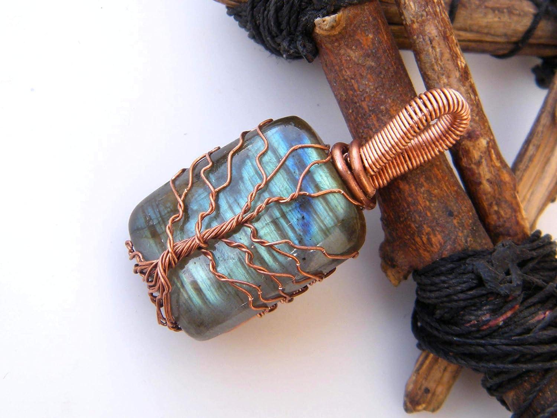 Designer Handmade Pendant Thebestjewellery Labradorite Pendant Copper Wire Wrapped Pendant Tree of Life Pendant LA-7234