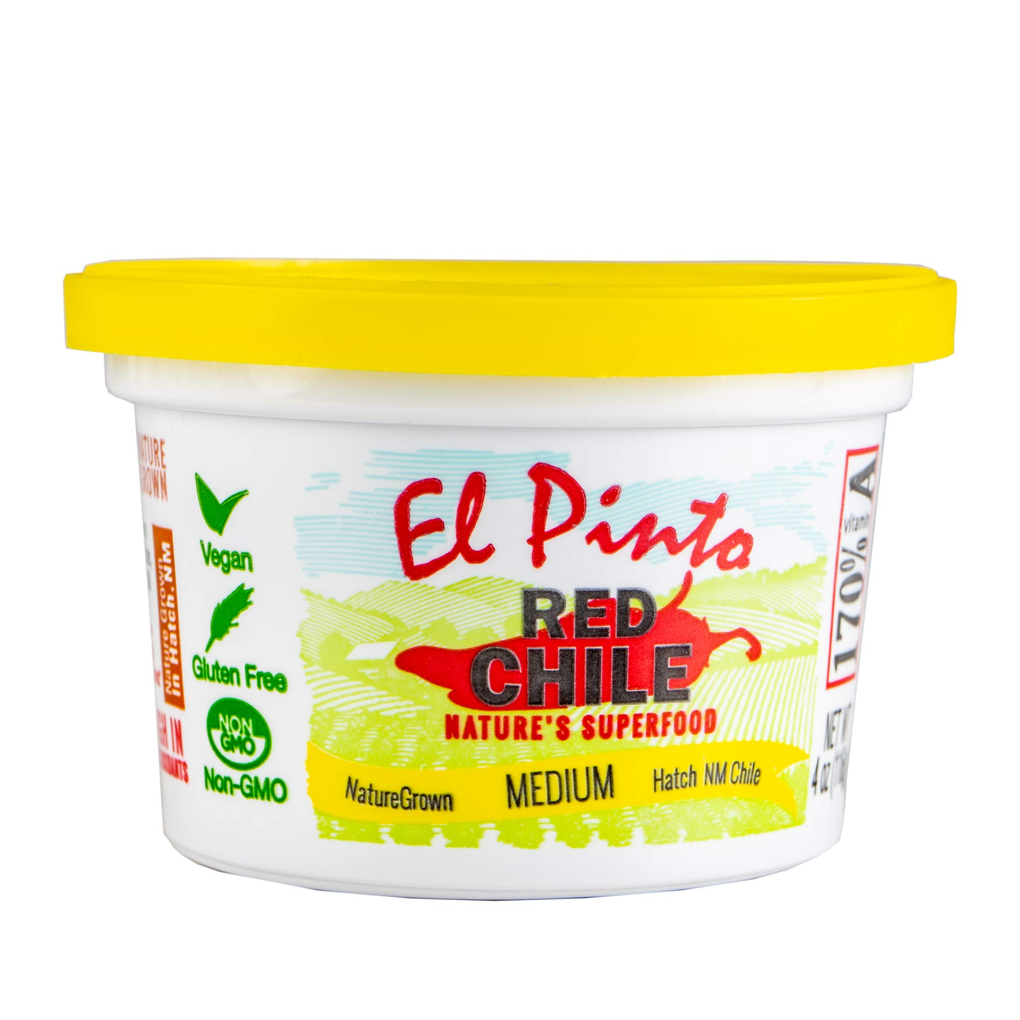El Pinto - Medium Red Chile Sauce - (4 ounce, 18 Pack) Single Serve Portion Cups, Hatch New Mexico Chile, Nature Grown