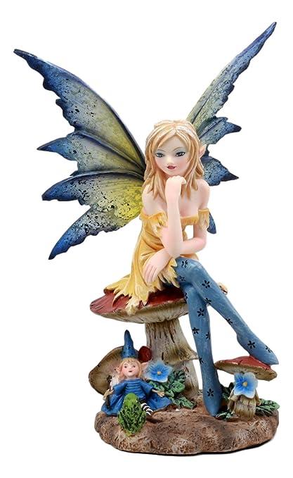 Ebros Gift Amy Brown Teacup Mocha Coffee Fairy Figurine