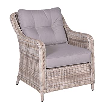 Lounge stuhl garten  Amazon.de: Gartenstuhl OUTLIV. Milwaukee Loungesessel Geflecht ...