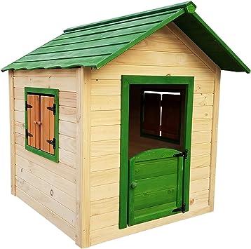 Outdoor Toys. Casita Infantil Kela Verde Decorada: Dim. Ext: 118 X 138 X 132 Cm: Amazon.es: Juguetes y juegos