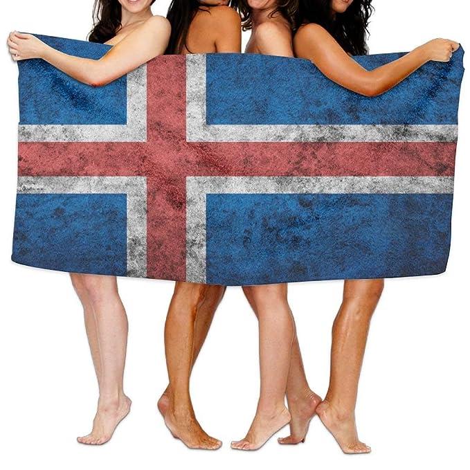 Amazon.com: Toalla de baño de spa, bandera de Islandia ...