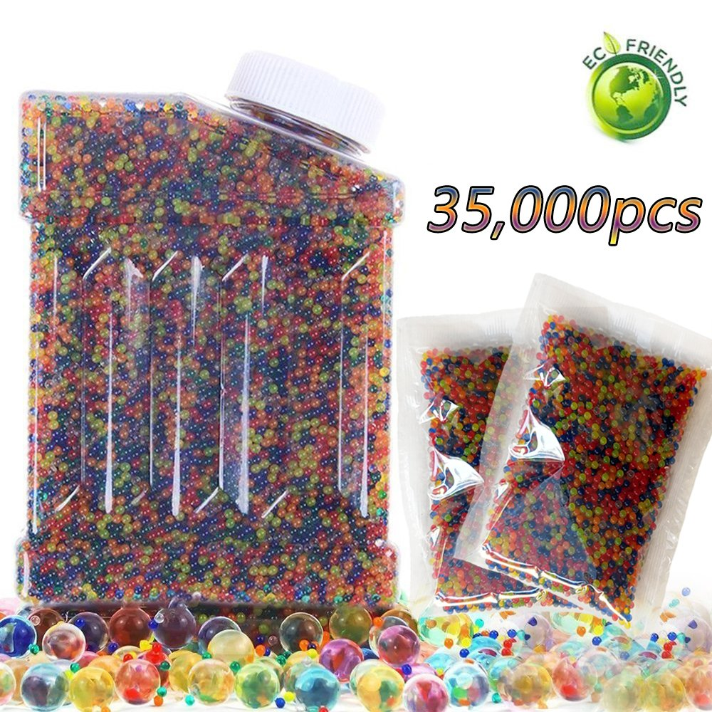 Water Beads Rainbow Mix Jelly Water Growing Balls for Children Non Toxic Beads Crystal Water Gel Beads Jelly Water Pearl for Orbeez Refill,Sensory Toys,Vase Fillerr,Plants Craft,and Home Decor,15,000pcs (0.5,Blue) 000pcs (0.5 Pro-Noke