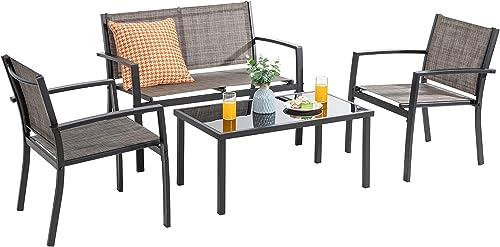 Vongrasig 4 Pieces Patio Furniture Set