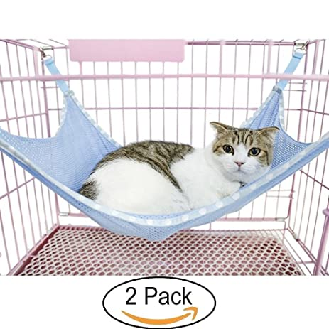 pet cats breathable mesh hammock mat bed pet cage chair hammock for cats ferret amazon     pet cats breathable mesh hammock mat bed pet cage      rh   amazon