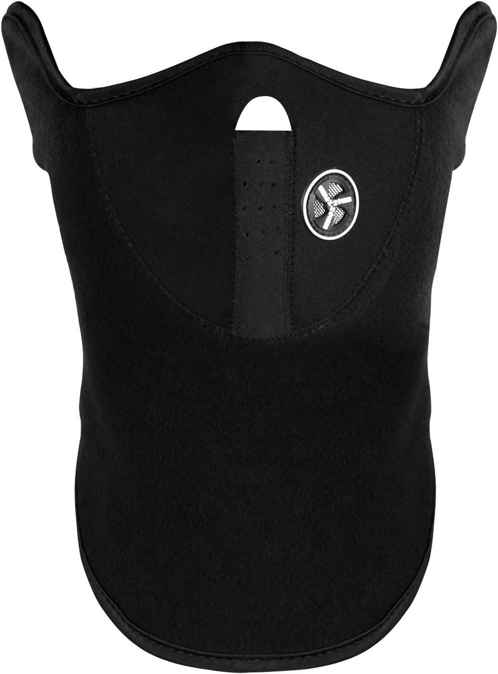 Shop Story–Máscara con forro polar para proteger la cara y el cuello del frío y el viento; apto para esquí, snowboard, motociclismo o bicicleta; color negro
