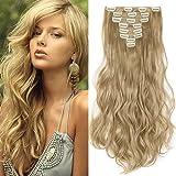 Hair Extension Capelli Clip in Estensioni 8 Fasce Full Head 42cm-60cm Capelli Lunghi Mossi Ricci Vari Colori
