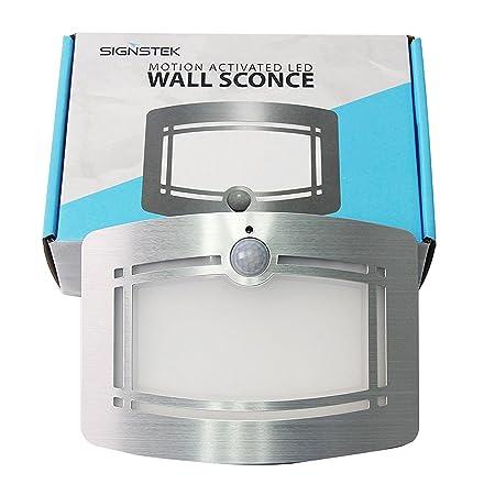 Signstek nbsp;- Lámpara inalámbrica con 10 LED para pared, con sensor de movimiento para pasillo, escalera, armario, gabinete: Amazon.es: Hogar