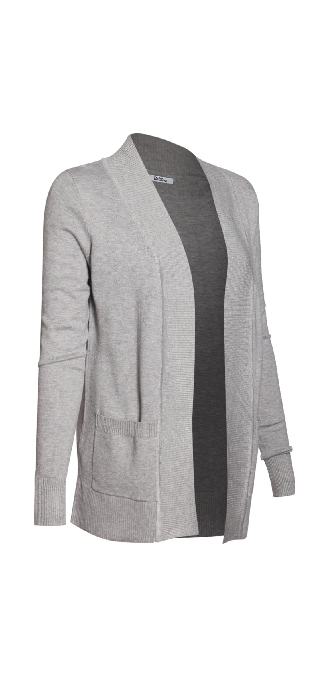 Women's Classic Knit Open Front Long Sleeve Cardigan