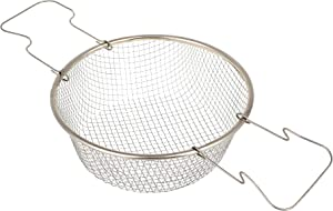 Fry Iron Basket Round - 8.66 Inch - Fry Basket with Handle - Deep Frying Basket